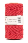 HS48CO-Red-48lbs Hemp Cord