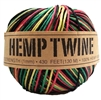 <B>ORDER#: TWINEBALL-1MM-RASTA</B> <BR>100% Hemp Twine, 1mm, Rasta