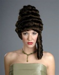 Brown Colonial Lady Wig - Adult