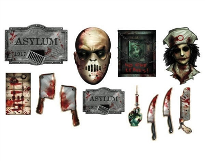 Asylum Scary Cutout Decorations