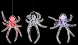 Glow in the Dark Spider Decor - Display