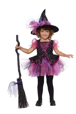 Toddler Darling Witch Costume - pink and black