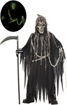 Scary boys grim reaper costume for Halloween.