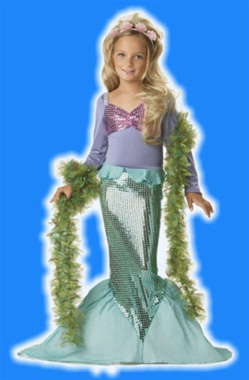 Child Little Mermaid Girls Costume