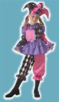 Girls Harlequin Child Costume