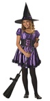 Charmed  Witch - Girls Pretty Witch Costume