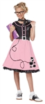 50's Sweetheart Costume for Girls - Poodle Skirt