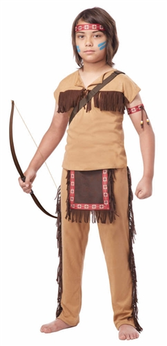 Boy's Native American Brave Costume - Indian