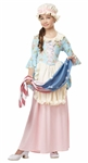 Child Betsy Ross Costume - Girl Martha Washington - Colonial