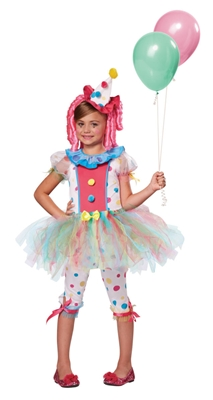 Child Kaleidoscope Clown Costume