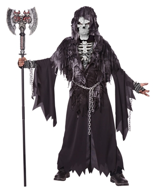 Child Evil Unchained Costume - scary grim reaper
