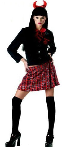 Womens Devil School Girl Costume