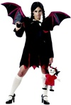 Womens Gothic Bat Girl Costume