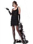 Black Fashion Flapper Dress Costume