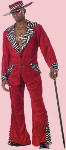 Red Pimp Adult Costume