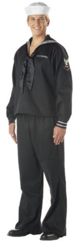 Mens Adult Navy Costume