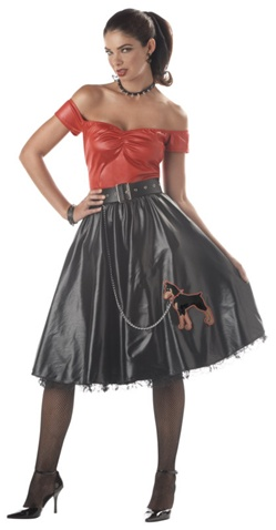 Womens Bad 50's Girl Costume