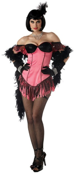 Womens Pink Cabaret Dancer Costume