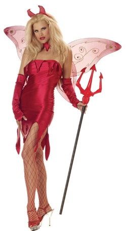 Womens Tinkerhell Costume - Devil