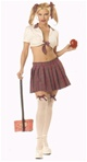 Womens Sexy Teacher's Pet School Girl Costume