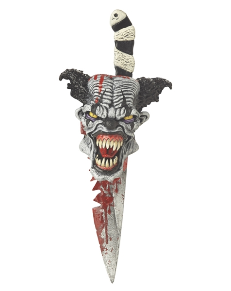 Scary Psycho Clown Knife with Sheath