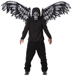 Fallen Angel Skull Mask and Wings