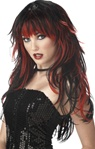 Adult Red/Black Tempting Tresses Wig