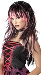 Adult Pink/Black Tempting Tresses Wig
