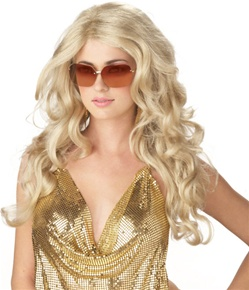 Womens Sexy Blonde Super Model Wig