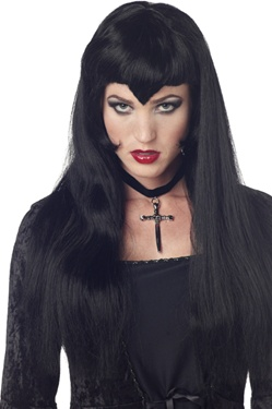 Black Vampire Lady Adult Wig