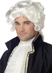 Colonial Man White Adult Wig