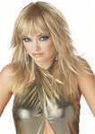 Womens Blonde Feathered Wig