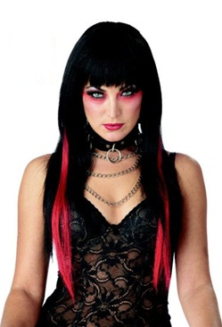 Black and Red Anime Adult Wig - Chopstix