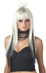 White and Black Anime Adult Wig - Chopstix