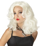 Platinum Blonde Glamour Girl Adult Wig