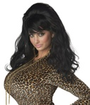 Womens Long Black Wig - Vegas Baby