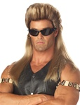 Bail Enforcer Mens Mullet Adult Wig