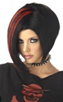 Mood Swing Black/Red Wig - Adult