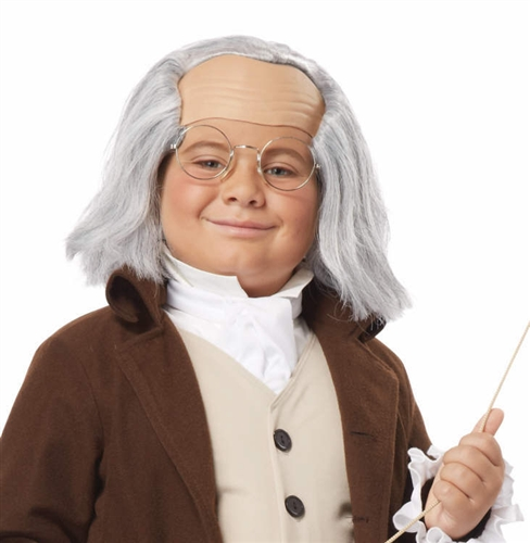 Child Ben Franklin Wig