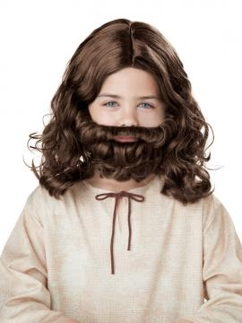Kids Jesus Wig and Beard Set