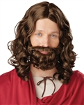 Jesus Wig & Beard Costume Set
