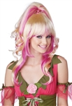 Two Toned Blonde and Pink Wig - Sugar & Spice