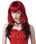 Two Toned Red and Black Vampire Wig