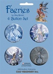Amy Brown Mystical Fairies Buttons