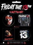 Friday the 13th Buttons - Accessory