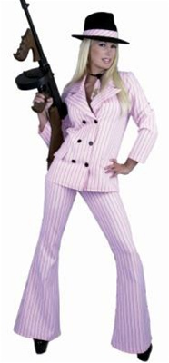 Sexy Pink Gangster Adult Costume
