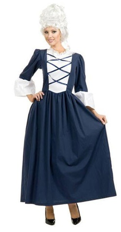 Colonial Lady Latice Front Full Length Dress