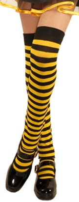 Girls Striped Bee Stockings - Child Sized