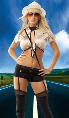 Sexy Female Highway Trooper Costume from Coquette