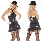 Sexy Mob Girl Costume by Coquette